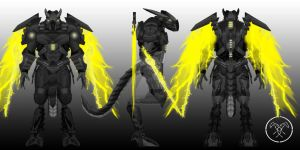 Draco Hunter mk3 (wings+blades open) by Hellmaster6492