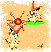 Victini - Request by Seiryu6