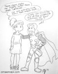 Mere maiden and Thor by aimeekitty