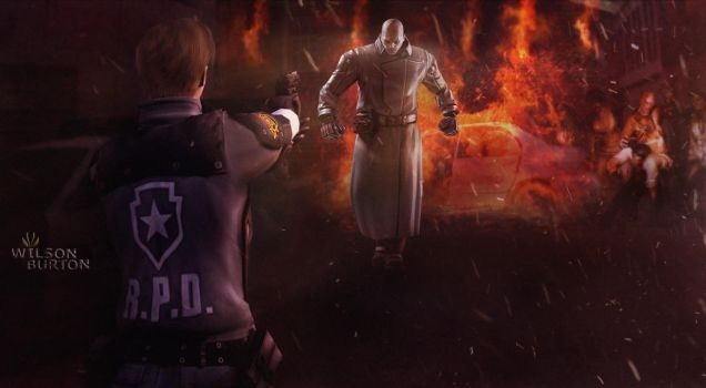 Resident Evil 2 Remake Art by: Wilson Burton. by wilsonBurton20