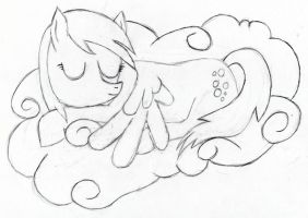 Derpy Napping by Tesa-studio