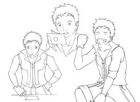 Lineart Alphario - Dennis Blak by Angy89