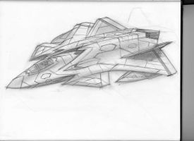 stealth fighter sketch by mikemars