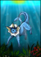 vaporeon by PinkScooby54