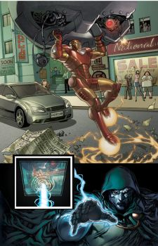 Iron Man: Page 4 Sample Colors by Markovah