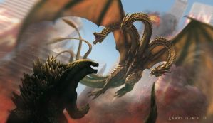 Godzilla vs King Ghidorah by NoBackstreetboys