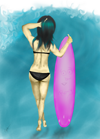 Surf Girl by Cycotic-Menace