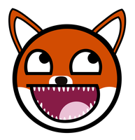 Cute Red Fox Awesome Smiley by E-rap