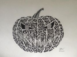 Tribal Pumpkin by scary81