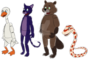 FNAF adoptables CLOSED by Nutty-Nutzis