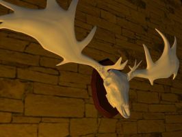 Irish Elk Head by penguinluv4ever