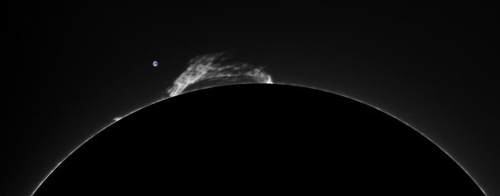 Large prominence by GreatAttractor