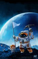 Nautilus And Teemo conquer the Moon by patrickdeza