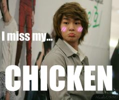 Onew and Chicken by NanA-0330