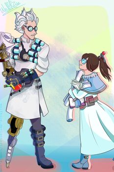 Overwatch - Meihem - Doctor and the Assistant by WolfKIce