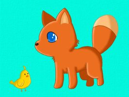 The Chick and the Fox Cub by I-Am-CrazyP
