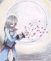 Sadness over the moon by natalia010995