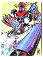 Grendizer Sketch Card by fbwash