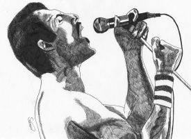 Freddie Mercury by Jon-Wyatt