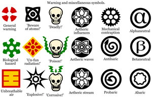 Steamopera Warning Symbols by Naeddyr