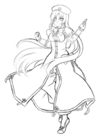 Rough Draft - Meiling by Rinselli-chan