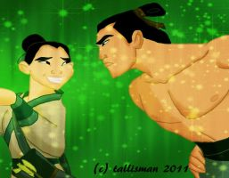 Sparkle - Mulan and Shang by TallyBaby13