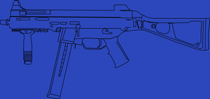 UMP45 outline enlarged. by rossriders