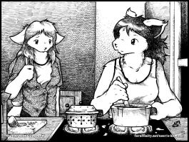 Meal Waiting by o-kemono