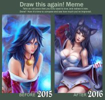 Meme: Before and After (Ahri) by Prywinko