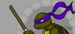 Donatello in sewers by somechick73