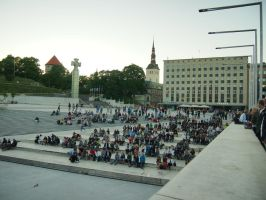 Tallinn - Euro 2012 on the street by ddmkro