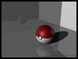 3D Pokeball by HTivey