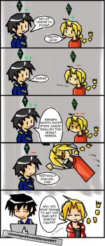 FMA: Sim Fight Comic by OneWingedMuse