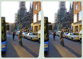 Munich I 3D ::: HDR-Stereoscopy for Cross-Eye View by zour