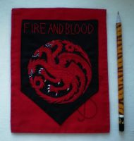 Embroidered house Targaryen  coat of arms by sleepyhamsteri