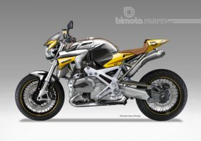 BIMOTA  BB-4S Cafe Fighter Concept # 5 by obiboi