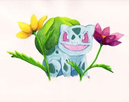 Bulbasaur in the Tall Grass by PlayervsPaint