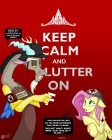 Keep Calm and Flutter On by wolfjedisamuel