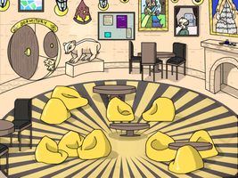 Hufflepuff Common Room by Tempestfrost