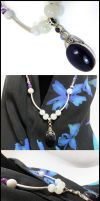 Amethyst And Moonstone Necklace by haedaeso