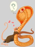 Rat Loves Snake by FablePaint