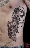 Death with a mask by Reddogtattoo