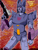 Cyclonus and Nightstick by sporkbotic