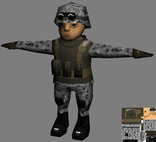 Lowpoly soldier WIP by zerobyte