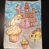 Muffin Doo and Butter Whooves color by aubrey486