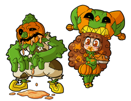 Fiona Frightening commission 18 - Pumpkin Problems by MTC-Studio