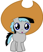 Kenny in hat by cottoncloudyfilly