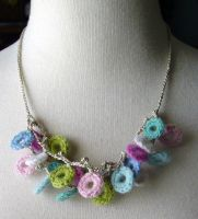 Crochet Circles Necklace by meekssandygirl