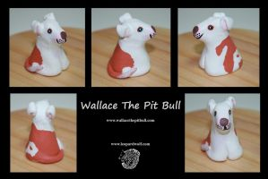 Wallace The Pit Bull - Sculpture by leopardwolf