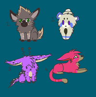 Random Creature Adopts by TheStringofFate